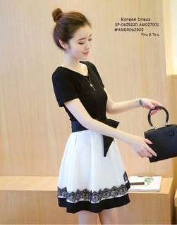 KOREAN DRESS  Fits S TO L  Price : 390