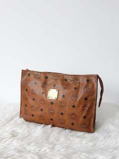 Original MCM cognac visetos CLUTCH BAG