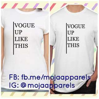 VOGUE UP LIKE THIS Graphic Tee medium size