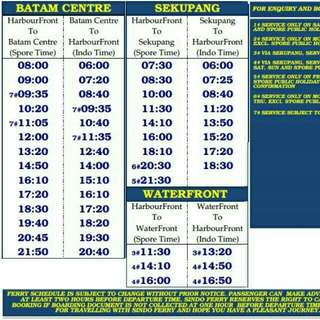 Ferry ticket to Batam
