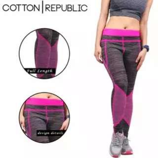 Cotton Republic Fitness Sports Wear Leggings Ronda (Pink)