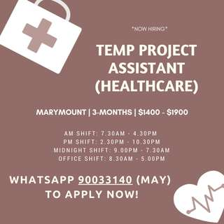 Temp Project Assistant (Healthcare)