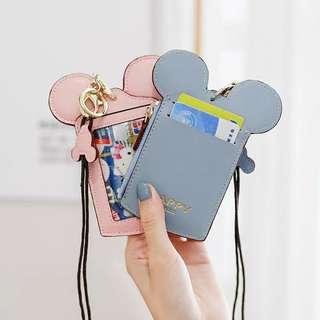 🚚 📣特價 米奇造型卡掛脖套零錢包7色♡預購♡