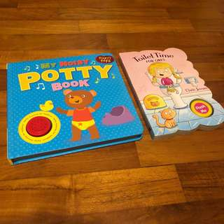 2-4T EUC 2x Sound books potty toilet training board book