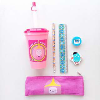 BACK TO SCHOOL TUMBLER AND STATIONERY SET (PENCIL CASE, PENCIL, RULER, ERASER, SHARPENER)