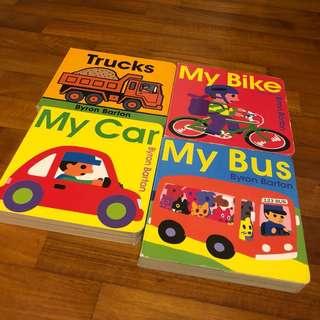 1-3T EUC 4x Byron Barton Board Books