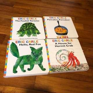2-4Y NEW 4x Eric Carle Board Book Set