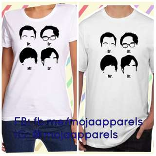 Big Bang Theory Inspired Graphic Tee Mediun Sizs
