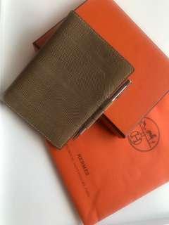Hermes Wallet Agenda Diary passport cover Cover Rare Lizard Skin 愛馬仕 銀包 袋