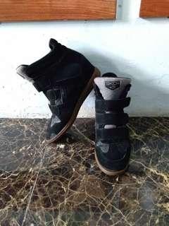 Wedges Boots / sepatu hitam