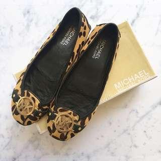 MK Leopard Flat Shoes