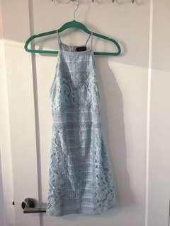 Blue lace Top Shop Dress
