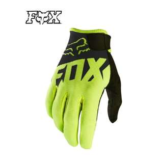 INSTOCK XL ONLY ★ Fox High Quality Motorcycle Gloves ★ E-Scooter ★ Motocross ★ Scrambler Offroad Dirt Bike ★Black Green ★