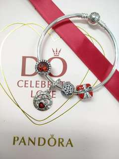 Pandora bangle with charms