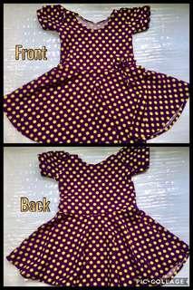 Yellow Purple dot Dress