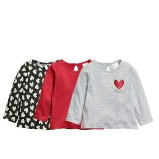 3pcs Long Shirts