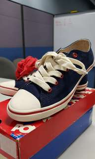 Red and blue Pony sneakers