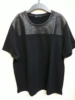 Seed Top Leather Chest Black Shirt (L) #winsb