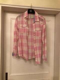 🚚 Lativ 粉格子襯衫
