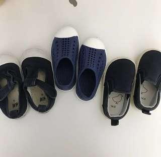Toddler kids shoes slip on strap H&M pumpkin patch muji
