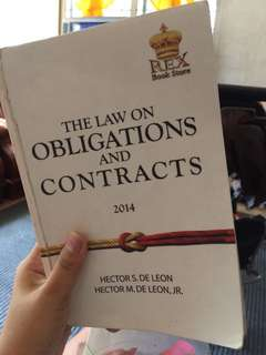 Law on Obligation and Contracts by Hector De leon