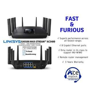 BNIB Linksys Router AC5400
