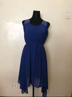 Blue dress with gold details