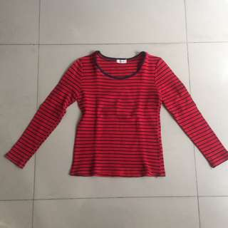 Stripes red pullover