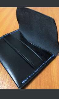 Handmade flap cardholder - 100% leather