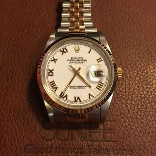 Rolex 16233 金銀潤天文台手錶