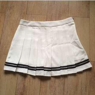 TENNIS SKIRT WHITE BLACK STRIPE