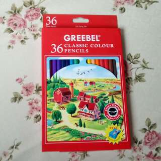 PENSIL WARNA GREEBEL ISI 36