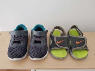 Nike shoes and slippers