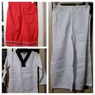 TAEKWONDO & FILIPINO RED PANTS COSTUMES