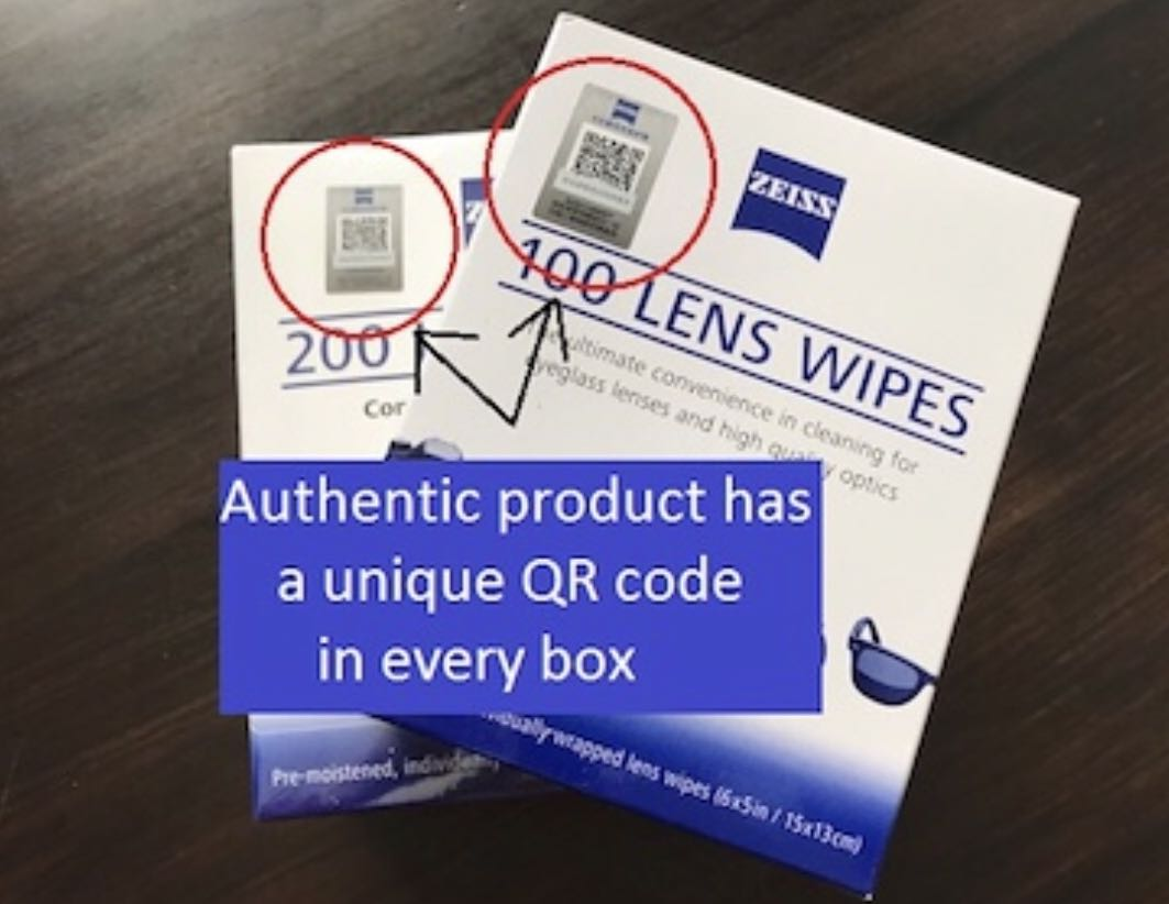100pcs Zeiss Lens Cleaning Wipes Original Pre-moistened Disposable Wipes  For Camera Lens Spectacle Lens All Device Screens