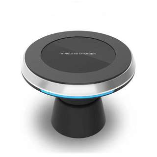 Fast wireless car charger with dual usb charger and airvent & magnetic car mount