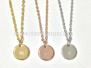 Customised Initial Necklace