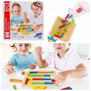 Hape Path Finder Wooden Logic Solving Toddler Puzzle