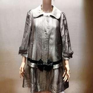 GianFranco Ferre Metallic Dress Coat
