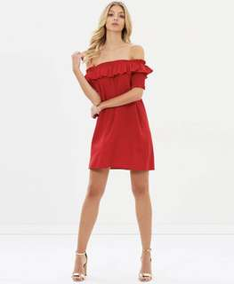 Atmos & Here Noah Off Shoulder Dress Red Size 6 XS