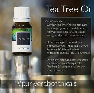 PURIVERA BOTANICALS TEA TREE OIL