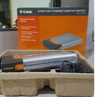 Dlink DES-1008D 8-Port Fast Ethernet Desktop Switch