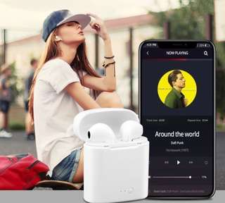TRENDY Apple-inspired earphone TWS i7 (FREE! anti-lost silicone strap)