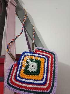 Kalung rajut, aksesoris handmade