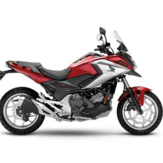 Honda NC750XA OTE B4 Insurance $20.350 D/P $500 or $0 With out insurance (Terms and conditions apply. Pls call 67468582 De Xing Motor Pte Ltd Blk 3006 Ubi Road 1 #01-356 S 408700.