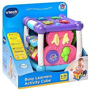 🚚 (Pre-Order)   VTech Busy Learners Activity Cube - Purple