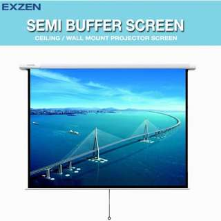 "[EXZEN] 70"" x 70"" Semi Buffer Projector Screen"