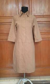Dress Coklat Preloved