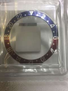 Rolex GMT 16750/1675 pepsi insert $4680 藍底粗字 尖4扁8藍底粗字
