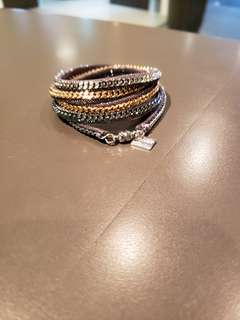 Vita Fede wrap bracelet (灰色底三色鏈)
